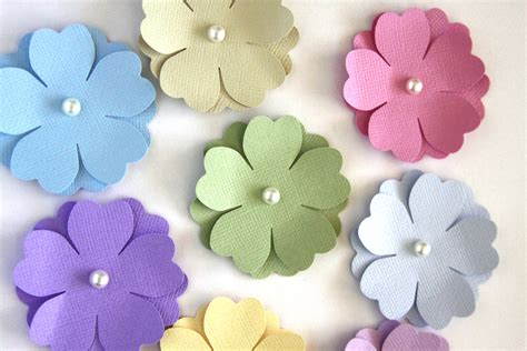 How To Make Handmade Flowers From Paper And Fabric - handmade paper flowers in pastels die cut flower