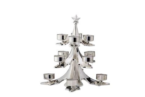 teelichthalter weihnachtsbaum teelichthalter christbaum f 252 r 12 teelichter versilbert