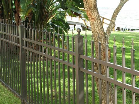 home depot decorative fence residential aluminum fence commercial aluminum fencing