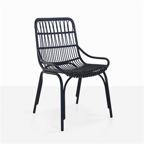 Outdoor Dining Room Chairs Sydney Outdoor Wicker Dining Chair Black Teak Warehouse