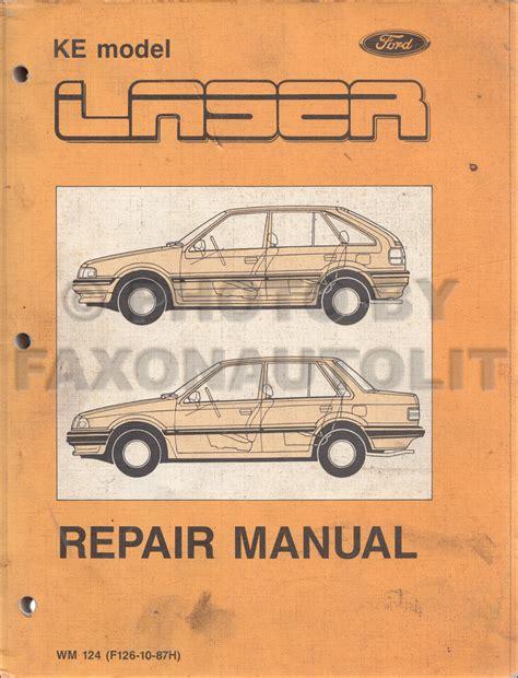car repair manuals online free 1986 ford laser auto manual 1986 ford laser meteor tx3 repair shop manual original