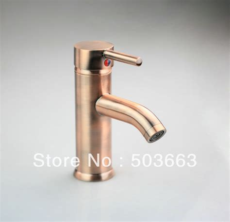 Copper Faucet Bathroom by Single Lever Antique Copper Deck Mounted Single