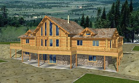 Log Home Plans With Garage by Log Home Plans With Basement Log Home Plans With Garages