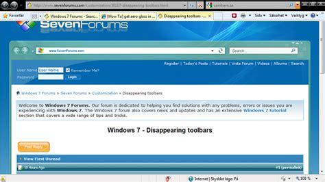 windows 7 bar at top of screen black menu bar in full screen possible bug windows 7