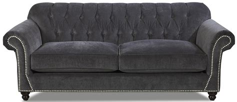 tufted back leather sofa traditional sofa with button tufted back and rolled arms