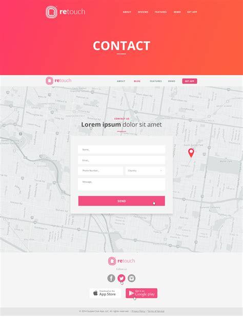 themeforest contact retouch app wordpress theme by darwinthemes themeforest