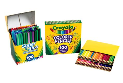 crayola colored pencils 100 discount school supply crayola 174 100 marker 100 colored