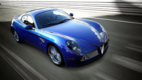car picker blue alfa romeo 8c