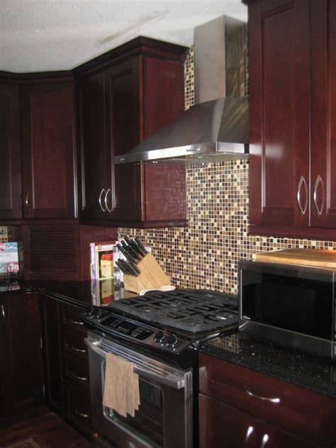 Peppercorn Kitchen by Kraftmaid Peppercorn Cherry Fall River Traditional