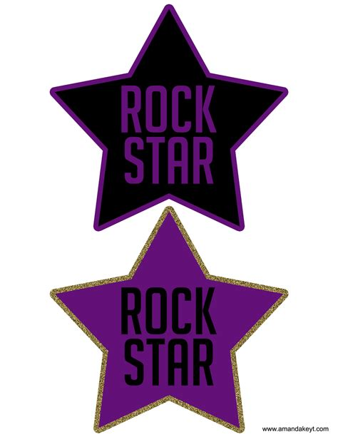 Printable Rock Star | rock star printable photo booth props amanda keyt designs