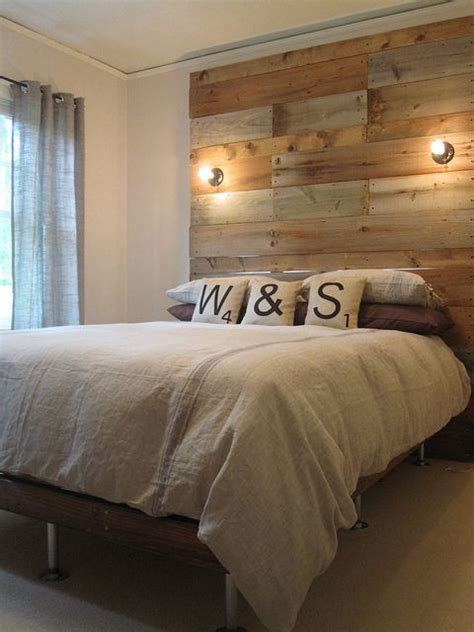 headboard with lights diy reclaimed wood headboard home pinterest