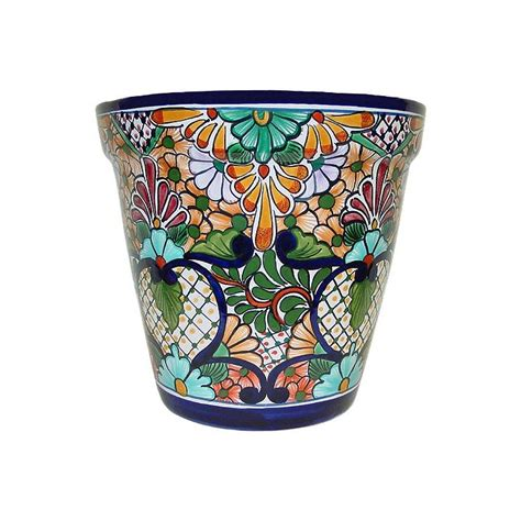 Mexican Planters Outdoor by Talavera Planters Collection Talavera Planter Tp180