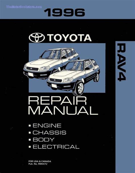 car engine repair manual 1996 toyota rav4 electronic valve timing 1996 toyota rav4 oem repair manual rm447u