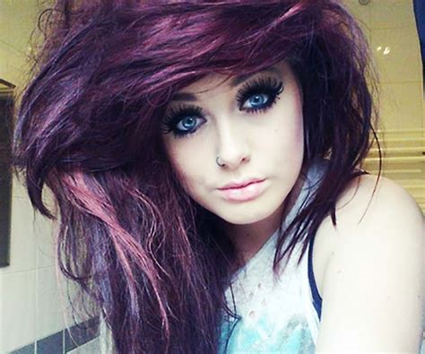 Dye Hairstyles by Home Hair Purple Color Dye Hairstyles Medium Hair