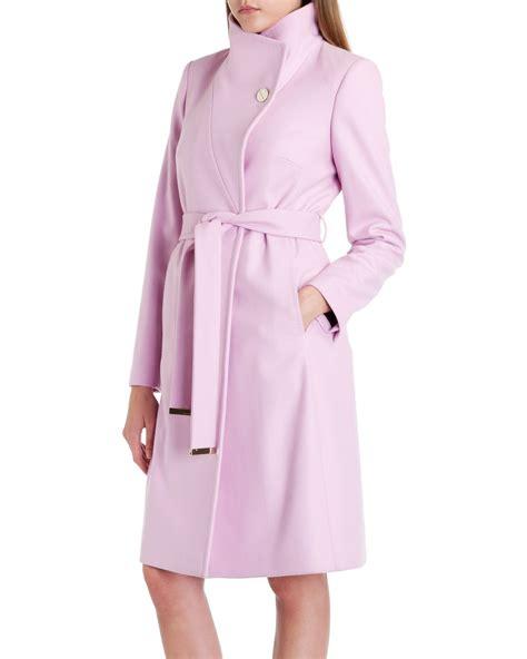 Gw Sm K Pink Burberry 1 pink belted coat sm coats