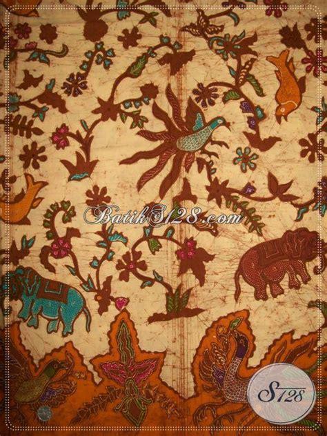 Jual Batik Peta Indonesia batik tulis motif hewan gajah burung unik batik