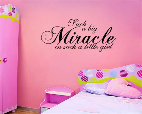 Baby Vinyl Wall Quotes miracle wall quote nursery baby vinyl wall