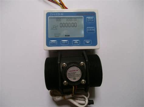Flow Meter Sensor 12 Inch g 2 quot inch dn50 flow rate water sensor meter lcd digital display programmable in flow