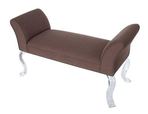 lucite bench legs upholstered bench with lucite legs at 1stdibs