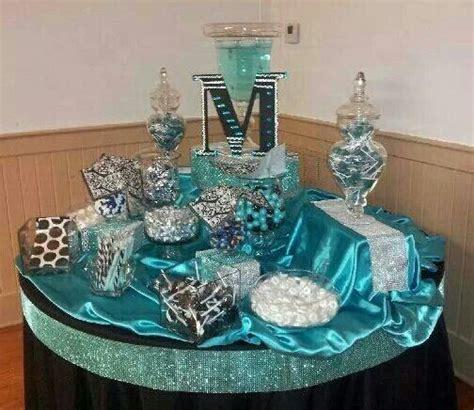 sweet 16 teal decorations sweet 16 bar