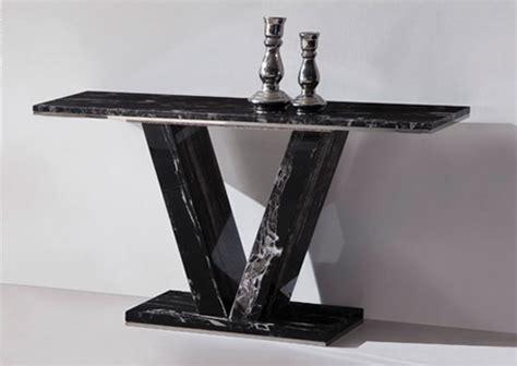 HERA Black Marble V Leg Console Hall Sofa Table