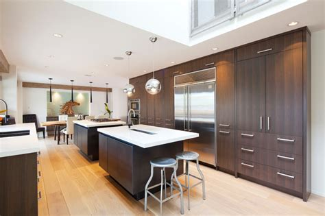 wall to wall kitchen cabinets contemporary walnut contemporary kitchen other metro
