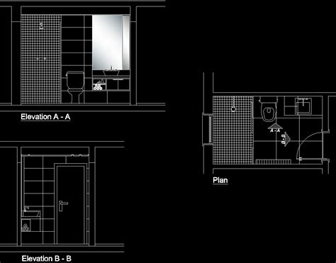 bathtub section dwg bathroom dwg section for autocad designscad