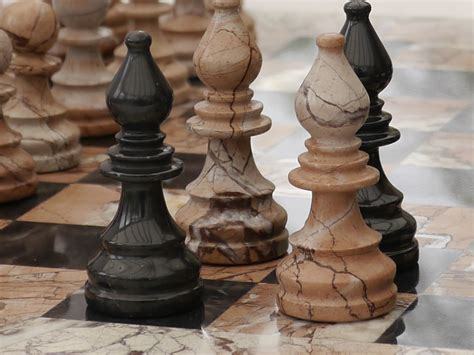 marina and boticini black marble chess set with marble