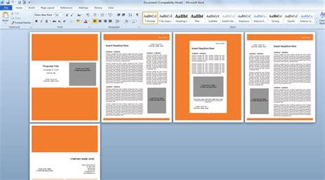 modern proposal template for microsoft word powerpoint