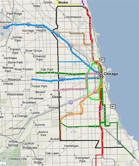 chicago map cta chicago el map swimnova