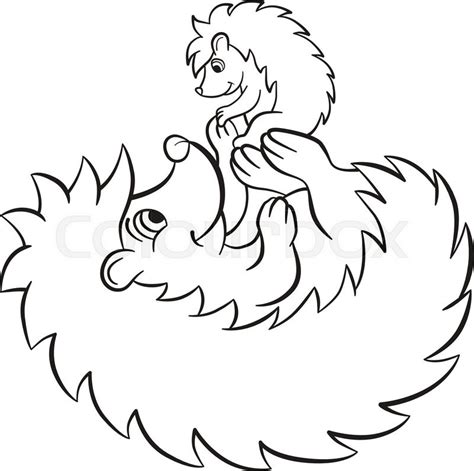 baby hedgehog coloring page coloring pages the hedgegoh holds little cute hedgehog