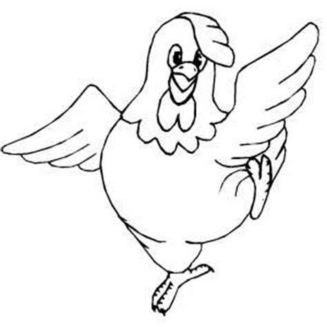 free printable chicken coloring pages plain chicken to color dancing chicken coloring page