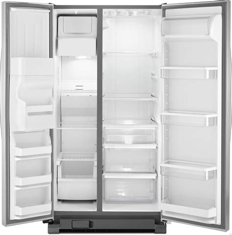 Whirlpool Refrigerator Shelves And Drawers by Whirlpool Wrs325fdam 25 4 Cu Ft Side By Side