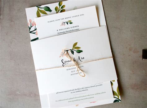 wedding invites australia s floral wedding invitations from rifle paper co