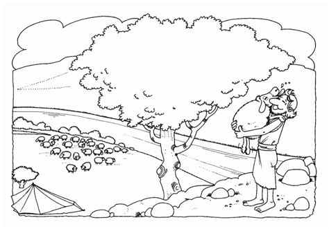 coloring pages for preschoolers parable of lost sheep coloring home