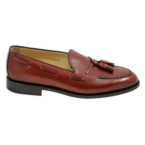 goodyear welted loafers nettleton barrington goodyear welted tassel loafers rosso
