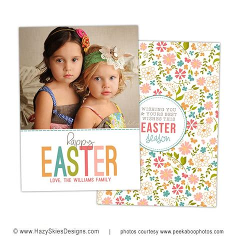 free easter card templates photoshop easter photo card template for photographers