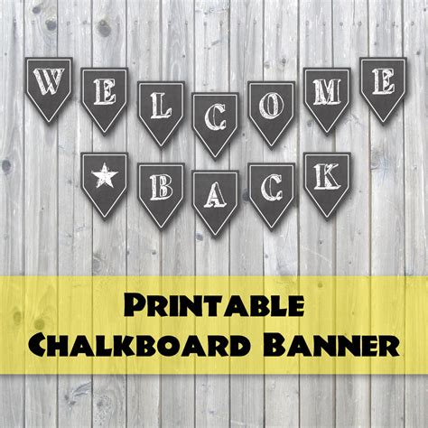 printable chalkboard banner welcome back chalkboard design printable banner back to