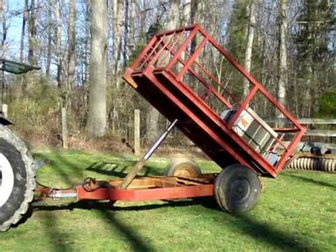 Rancher Logging home made dump trailer youtube