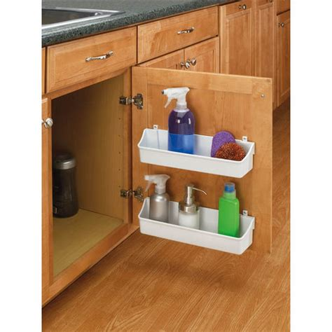 Kitchen Cabinet Door Shelves Rev A Shelf Kitchen Cabinet Door Mounting Storage Shelf Sets Kitchensource