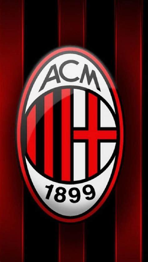 ac milan logo sepak bola bola kaki  desain logo