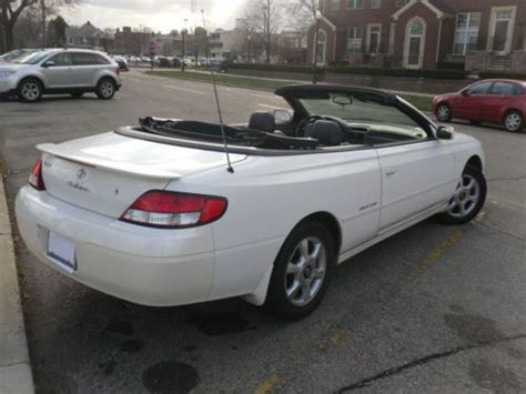 2001 Toyota Solara For Sale Sell Used 2001 Toyota Solara Sle Convertible 2 Door 3 0l