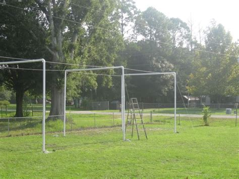 how to build a backyard batting cage pvc batting cage living at the whitehead s zoo