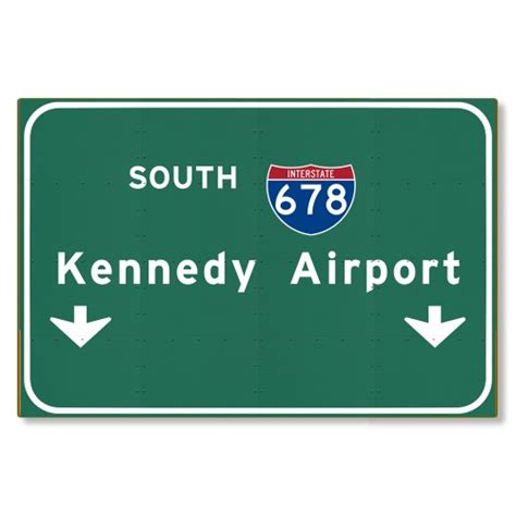 new haggetts highway sign haggetts aluminum kennedy airport i 678 nyc city new york ny metal