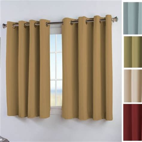 short thermal curtains elegance insulated thermal grommet curtain patio panel