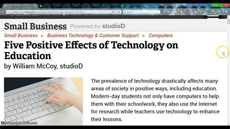 Essay Computer Education On Children by Essay On Modern Technology In Schools