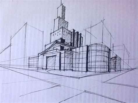 sketsa desain eksterior sketsa cepat bangunan gedung interior and eksterior