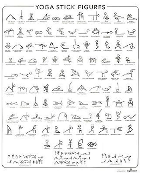 printable yoga journal yoga poses in stick figures maybe print out and pin it up