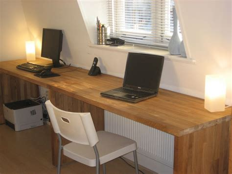 Ikea Long Wood Computer Desk For Two Decofurnish Desk For 2