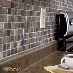how to tile a backsplash the family handyman install kitchen backsplash moasic tiles glass tile